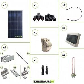 Kit Boiler Solare Elettrico 1620W + kit struttura tetto a falda