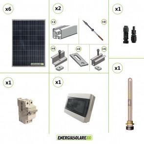 Kit Boiler Solare Elettrico 600W + struttura tetto a falda calcestruzzo