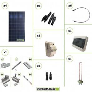 Kit Boiler Solare Elettrico 1080W + struttura tetto a falda calcestruzzo