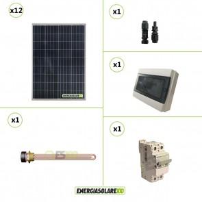 Kit Boiler Solare Elettrico 1200W acqua calda sanitaria