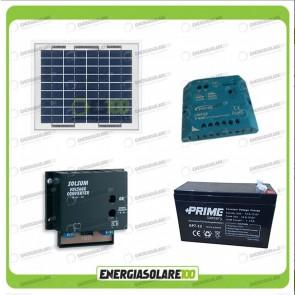 Kit Solare a multitensione 10W con convertitore di tensione Steca 3-6-7,5-9-12 V