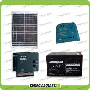 Kit Solare a multitensione 20W con convertitore di tensione Steca 3-6-7,5-9-12 V