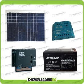 Kit Solare a multitensione 30W con convertitore di tensione Steca 3-6-7,5-9-12 V