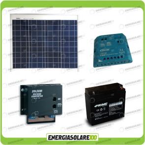 Kit Solare a multitensione 50W con convertitore di tensione Steca 3-6-7,5-9-12 V