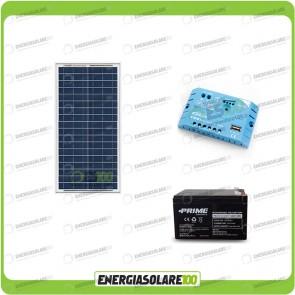 Kit Solare Fotovoltaico Campeggio Scout 30W 12V 12Ah alimentare Cellulare Luce e Stereo