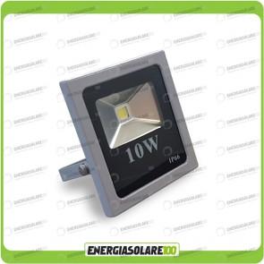 Faro LED SLIM 10W 12V 24V IP66 luce bianca fredda per esterno per impianti fotovoltaici