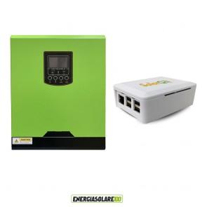 Inverter ibrido genius 3KVA 2,4KW  24V PWM con connessione internet