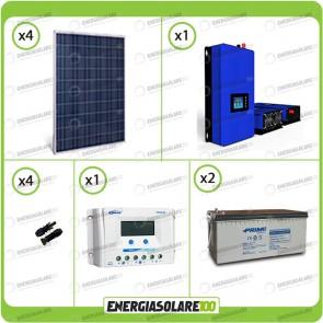 Kit solare fotovoltaico 1KW Pannello extraeuropeo con Inverter Grid Tie 1kW per connessione alla rete 230V con batterie
