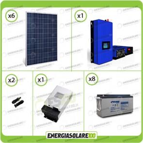 Kit solare fotovoltaico 1.6KW Pannello extraeuropeo con Inverter Grid Tie 1kW per connessione alla rete 230V con batterie