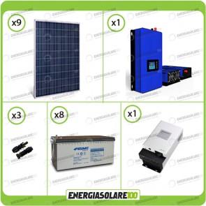 Kit solare fotovoltaico 1800W Pannello monocristallino con Inverter Grid Tie 1kW per connessione alla rete 230V con batterie