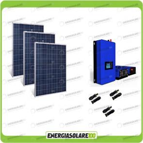 Kit solare fotovoltaico 200w con Inverter Grid Tie 1kW per connessione alla rete 230V