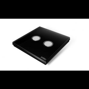 Interruttore wireless - nero 2 canali base nera Elegance  Edisio  dimmer illuminazione tapparelle cancelli EFPB-B2