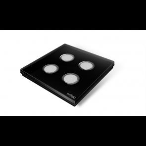 Interruttore wireless - Nero 4 canali base nera Elegance Edisio dimmer illuminazione tapparelle cancelli EFPB-B4