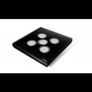 Interruttore wireless - Nero 5 canali base nera Elegance Edisio  dimmer illuminazione tapparelle cancelli EFPB-B5