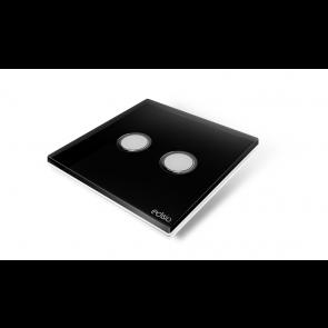 Interruttore wireless - Nero 2 canali base bianca Elegance  Edisio  dimmer illuminazione tapparelle cancelli EFPB-W2