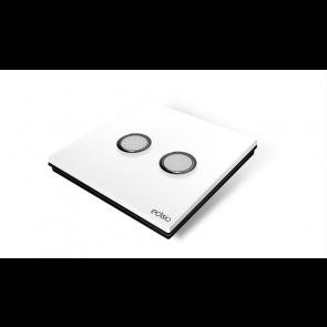 Interruttore wireless - bianco 2 canali base nera Elegance  Edisio  dimmer illuminazione tapparelle cancelli EFPW-B2