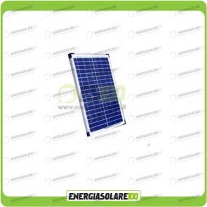Pannello Solare Fotovoltaico 20W Policristallino Serie EJ Camper Nautica