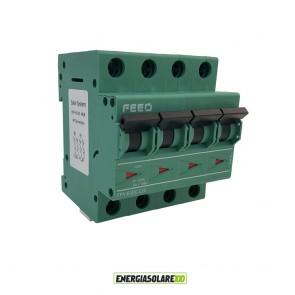 Interruttore Automatico Magnetotermico in corrente continua 25A 4P 1000VDC