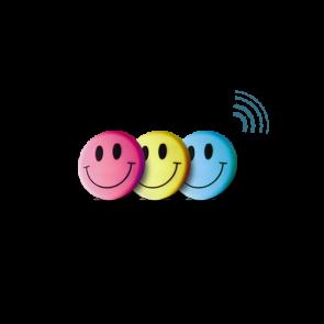 Telecomando Smile Giallo 1 canale Edisio Illuminazione Dimmer Led Prese Tapparelle Tende Porta del garage Impulso Motori Cancelli ETC1-Y01
