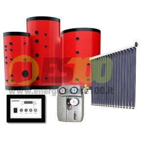 Kit FOR-U Collettore Piano 13.2m + 200L Serbatoio 2Vie + Accesor