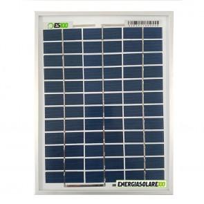 Pannello Solare Fotovoltaico 5W 12V Poli x Batteria Barca Camper Auto + Ebook