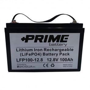 Batteria al litio solare PRIME LifePO4 100Ah 24V 2,4Kwh
