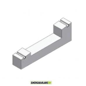Supporto Zavorra a 8° Blocchetto in cemento per installazione pannello fotovoltaico su tetto piano