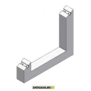 Supporto Zavorra a 30° Blocchetto in cemento per installazione pannello fotovoltaico su tetto piano