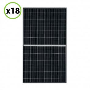 Set 18 Pannelli Solari Fotovoltaico 340W 24V Tot. 6120W Monocristallino 5 BUS BAR