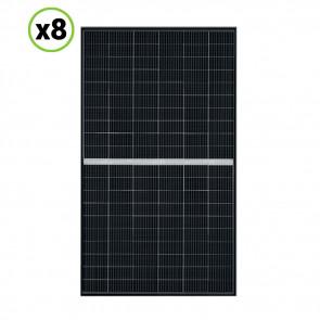 Set 8 Pannelli Solari Fotovoltaico 340W 24V Tot. 2720W Monocristallino 5 BUS BAR