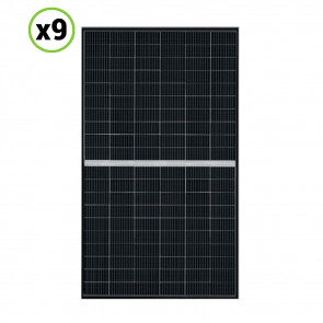Set 9 Pannelli Solari Fotovoltaico 340W 24V Tot. 3060W Monocristallino 5 BUS BAR