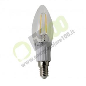 Lampadina a Candela LED a Filamento COB 1.8W 230V 3200K E14