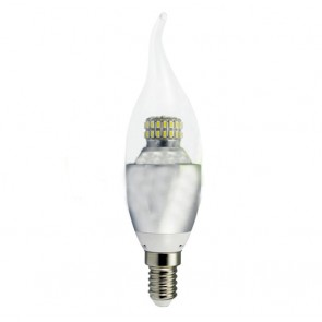 Candela LED SMD 5W 230V E14 luce naturale 4500K in Vetro