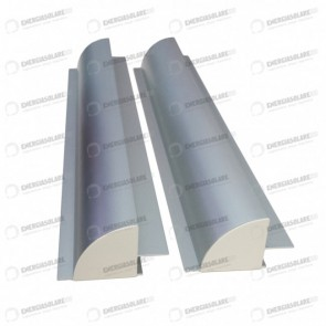 Spoiler Supporto Sostegno Pannello Solare Fotovoltaico Camper 660mm Alluminio