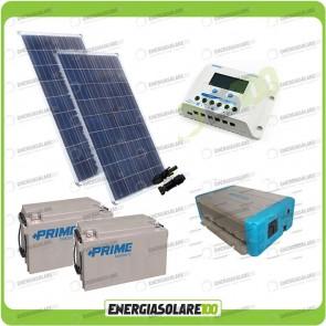 Kit Solare Fotovoltaico 200W 24V Baita Rifugio di Montagna Casa di Campagna