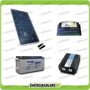 Kit baita pannello solare 200W 12V inverter onda pura 1000W batteria AGM 150Ah regolatore EPSolar