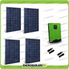 Kit Casa Solare Base 1000W Serie HF 48V Inverter Edison50 5000VA 4000W con regolatore PWM 50A