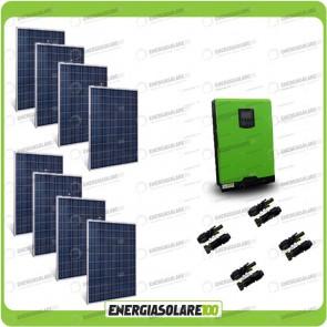 Kit Casa Solare Base 2000W Serie HF 48V Inverter Edison50 5000VA 4000W con regolatore PWM 50A