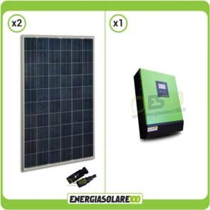 Kit Solare Pannello Solare 500W + Inverter 3000VA 24V