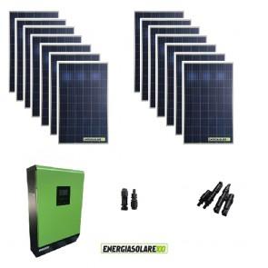 Kit solare fotovoltaico 4KW 48V Inverter 5KW  MPPT Display Remoto casa baita