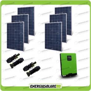 Kit Casa Solare Base 1500W Serie HF 48V Inverter Genius50 4000W 5000VA MPPT 80A