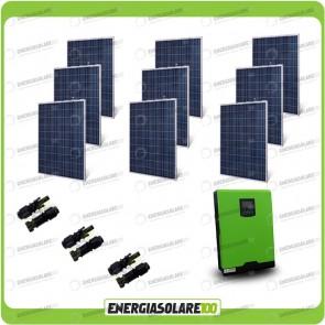 Kit Casa Solare Base 2250W Serie HF 48V Inverter Genius50 4000W 5000VA MPPT 80A