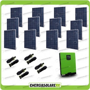 Kit Casa Solare Base 3000W Serie HF 48V Inverter Genius50 4000W 5000VA MPPT 80A