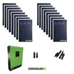 Kit Casa Solare Base 4000W Serie HF 48V Inverter Genius50 4000W 5000VA MPPT 80A