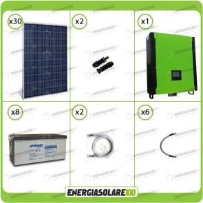 Kit solare fotovoltaico 7.5KW Inverter onda pura Infinity 10Kw 48V regolatore MPPT 15Kw 900Vdc Batterie AGM