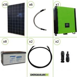 Kit solare fotovoltaico 10KW Inverter onda pura Infinity 10Kw 48V regolatore MPPT 15Kw 900Vdc Batterie AGM