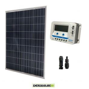 Kit solare con pannello fotovoltaico 20W e regolatore di carica EpSolar 10A VS2024AU con prese USB