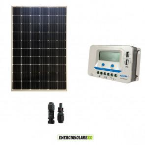 Kit Solare Fotovoltaico 330W 24V Regolatore PWM 20A VS2024AU Baita Chalet
