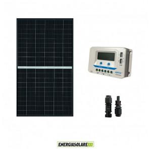 Kit Solare Fotovoltaico 375W 24V  Regolatore PWM 20A Baita Chalet VS2024AU con prese USB