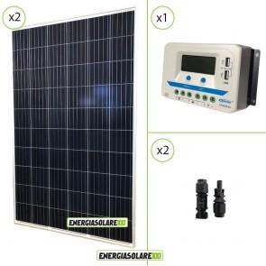 Kit solare 24V due pannelli 270W PV 540W regolatore di carica 30A Epsolar con prese USB